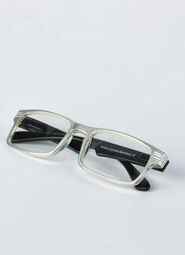silver/black reading glasses