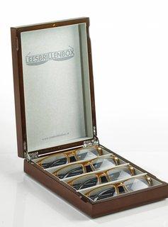 Leesbrillenbox - Hoogglans bruin