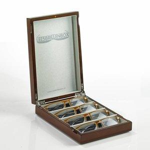 Boîte de lunettes de lecture en noyer
