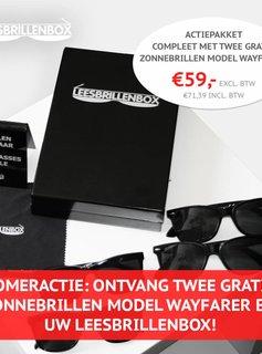 ZOMERACTIE: ONTVANG TWEE GRATIS ZONNEBRILLEN BIJ UW ZWARTE LEESBRILLENBOX!