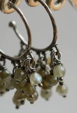 Carré Jewellery Zilveren oorbellen met Labradoriet