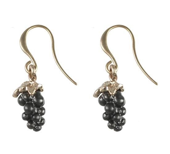 Hultquist Rosé plated grape earrings