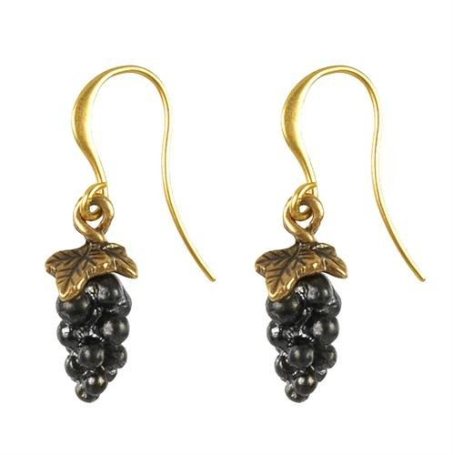 Hultquist Goldplated grape earrings