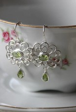 Lacom gems Flowerearrings with Peridot