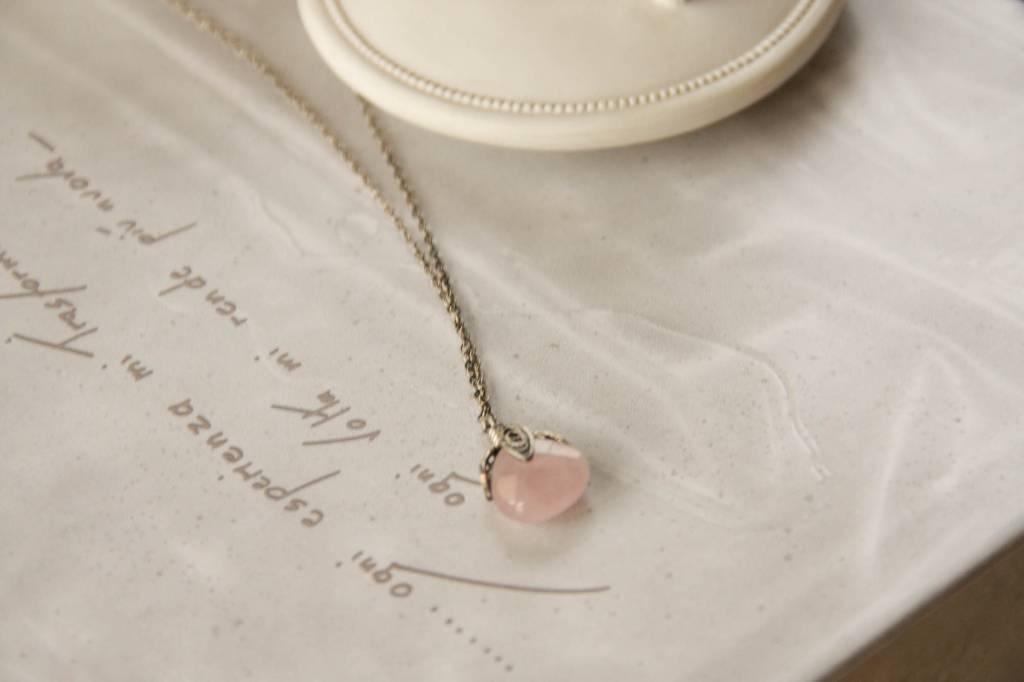 Yvone Christa Collana quarzo rosa