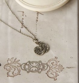 Yvone Christa Necklace with filigree apple