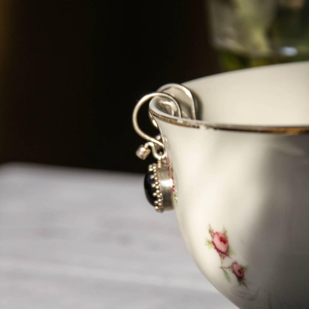 Carré Jewellery Black Agate earrings