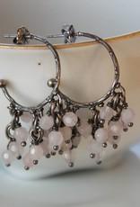 Carré Jewellery Oorbellen met roze quarts van Carré