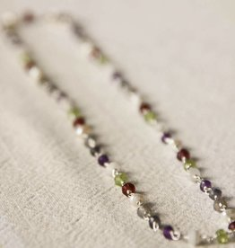 Lacom gems Silver necklace with gemstones