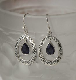 Lacom gems Silver Sodalite earrings