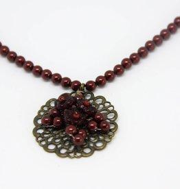 Darkred Helga Verlinden necklace