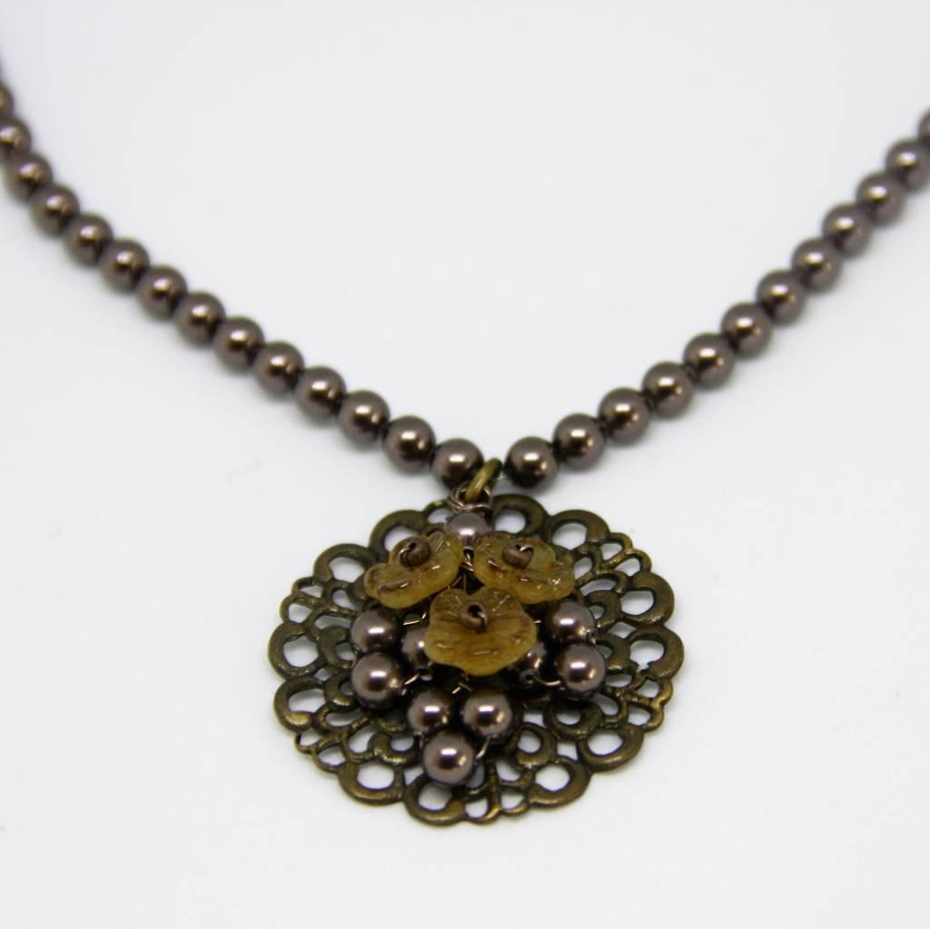 Brown Helga Verlinden necklace