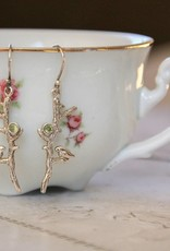 Lacom gems Silver earrings with bird.