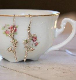 Lacom gems Silver earrings with bird