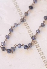 Lacom gems Silver necklace with Iolite