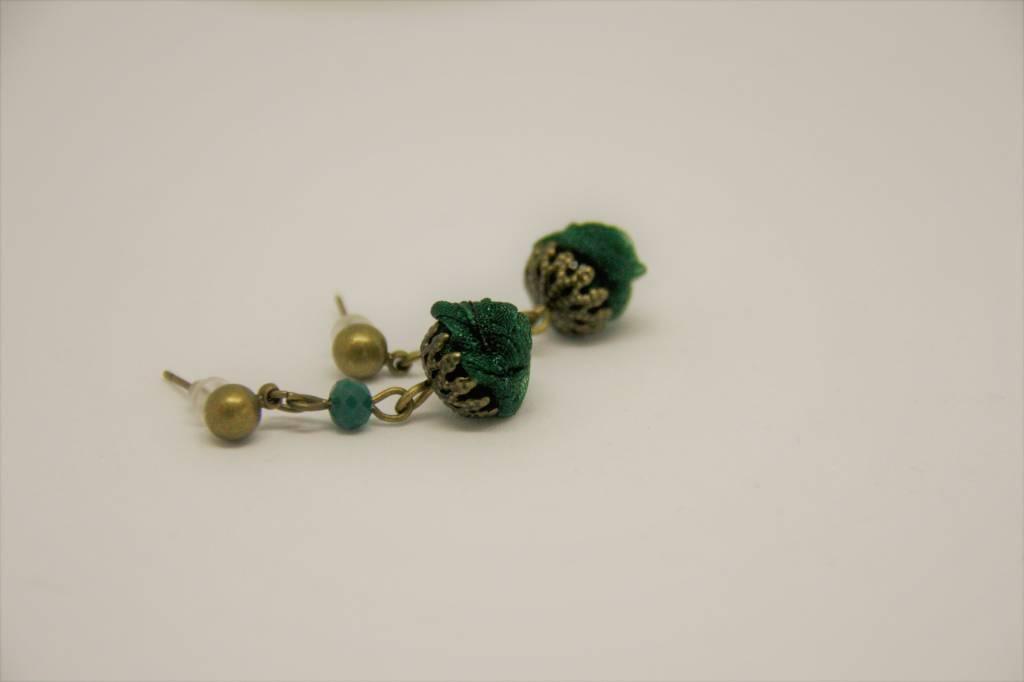 Ana Popova Green christelle earrings