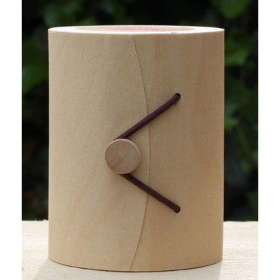 Kaars in houten box