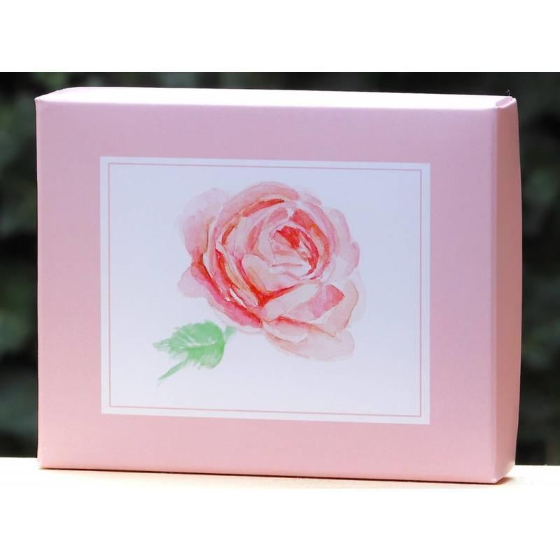 Zeepdoos met rozenzeep