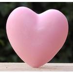Zeep in de vorm van een hart