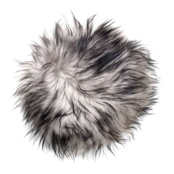 @BERG Stoelpad schapenvacht grijs dark top
