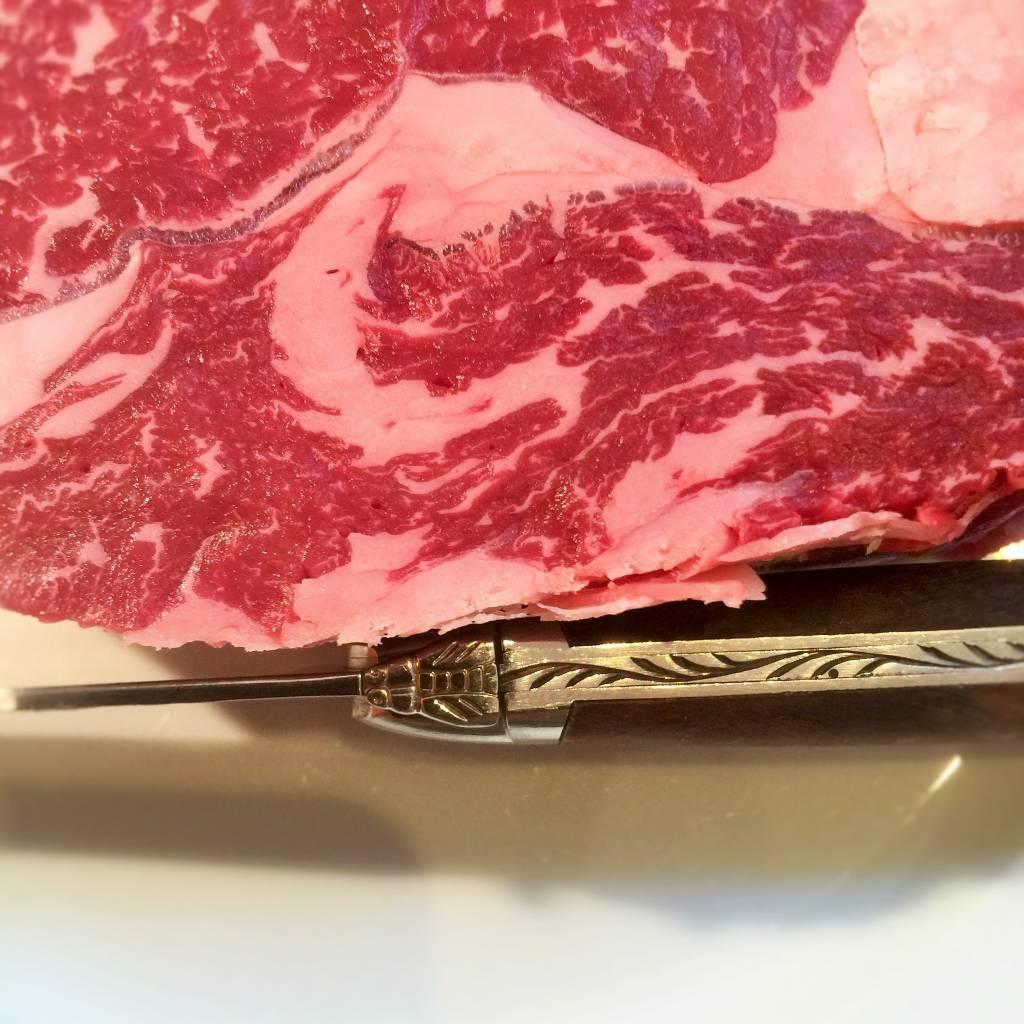 Ribeye BLACK ANGUS Australie graangevoederd 56.99€/kg JC3+