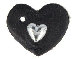 Schlüssel-/Taschenanhänger Herz XS Schwarz mit HerzStud  (TH113)