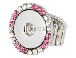 Ring verstellbar Rosa Strass (RC031)