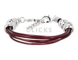 Ibiza Armband : einzelne Bändchen Bordeauxrot (RIB008)