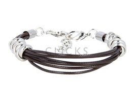 Ibiza Armband : einzelne Bändchen Dunkelbraun (RIB015)