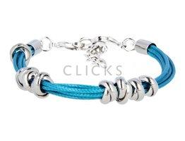 Ibiza Armband : einzelne Bändchen Aquamarin (RIB018)