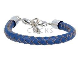 Ibiza Armband : einzelne Bändchen Blau Rund geflochten (RIB038)