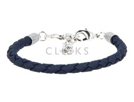 Ibiza Armband : einzelne Bändchen Dunkelblau Rund geflochten (RIB047)