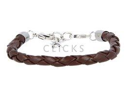 Ibiza Armband : einzelne Bändchen Braun Rund geflochten (RIB050)