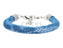 Ibiza Armband : einzelne Bändchen Blau Flitter (RIB054)