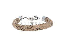 Ibiza Armband : einzelne Bändchen Braun Glanz (RIB055)
