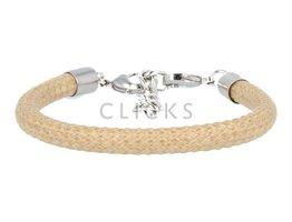 Ibiza Armband : einzelne Bändchen Braun/Beige (RIB069)