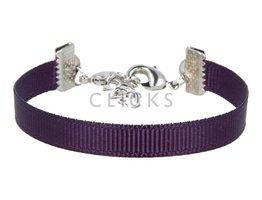 Ibiza Armband : einzelne Bändchen Band Violett (RIB095)