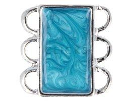 Ibiza Armband : Schliesse 3 Blau Marmorlook (RIS005)