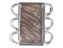 Ibiza Armband : Schliesse 3 Braun/Beige Marmorlook (RIS012)