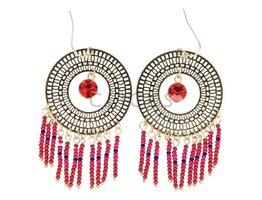 Telinga Oorbellen ibiza stijl rood (OB055)