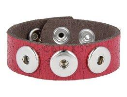Armband (NBNL334/25) Dunkelrot Krakelee