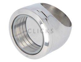 Sweet Memory Locket Ring Grösse 19 Edelstahl (MLA041)