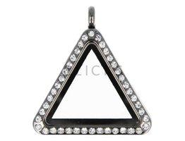 Sweet Memory locket : driehoek zwart strass