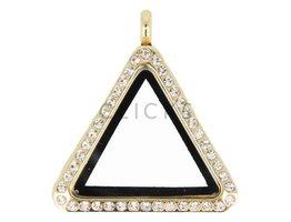 Sweet Memory locket : driehoek goud strass