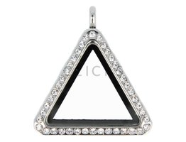 Sweet Memory locket : driehoek zilver strass