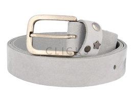 Ledergürtel mit Studs-Besatz auf Gürtelschlaufe - Sky Nubuk (LR1012)