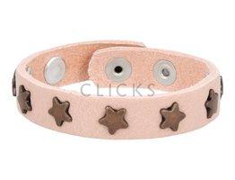 Below 16 Kinderarmband studs 501 zalm / brons ster (KB2106SR/B)
