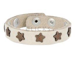 Below 16 Kinderarmband studs 1076 sand nubuck / brons ster (KB2107SR/B)