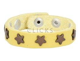 Below 16 Kinderarmband studs 508 geel / brons ster (KB2108SR/B)