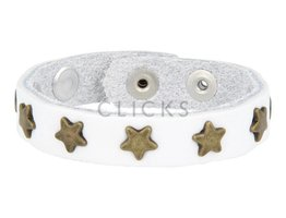 Below 16 Kinderarmband studs bianco wit / goud ster (KB2119SR/G)